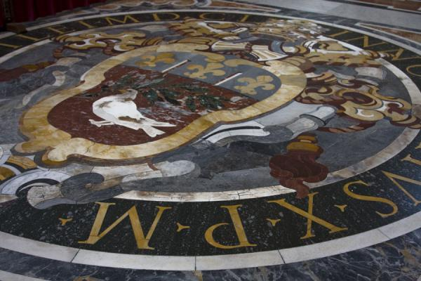 Detail of the floor of Saint Peters basilica | Saint Peters Basilica | Vatican City