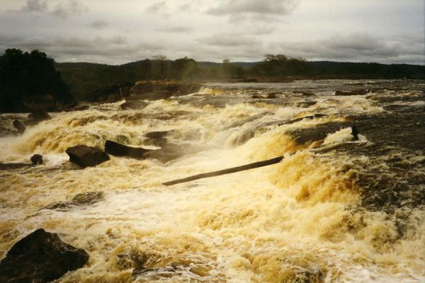 Foto di Water currents in a main river in Canaima National ParkCascate Angel - Venezuela