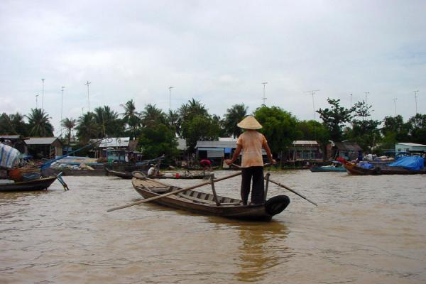 Picture of Rowing a boatMekong River - Vietnam