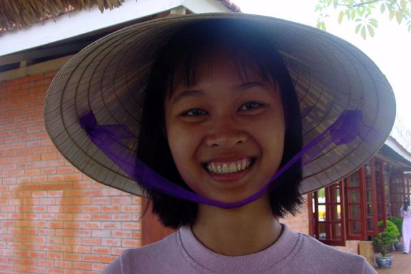 Picture of Conical hats (Vietnam): Vietnamese girl with conical hat