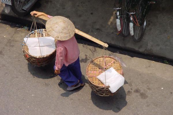 Walking the street | Conical hats | Vietnam