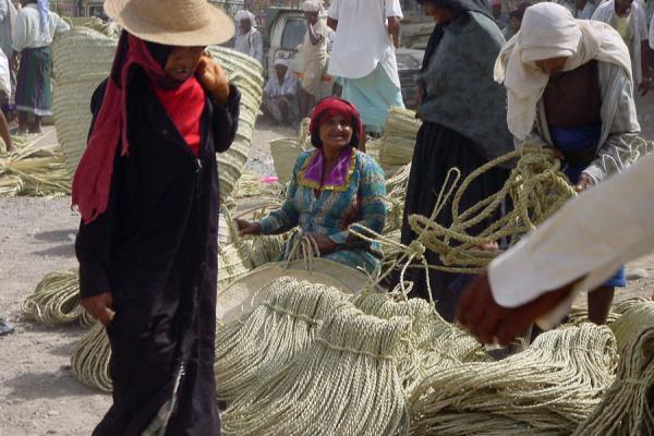 Baskets and ropes for sale | Bait al Faqih | Yemen