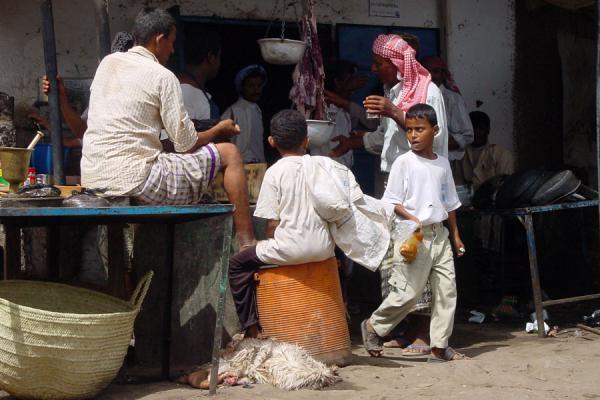 Picture of Bait al Faqih (Yemen): Butcher in Bait al Faqih market