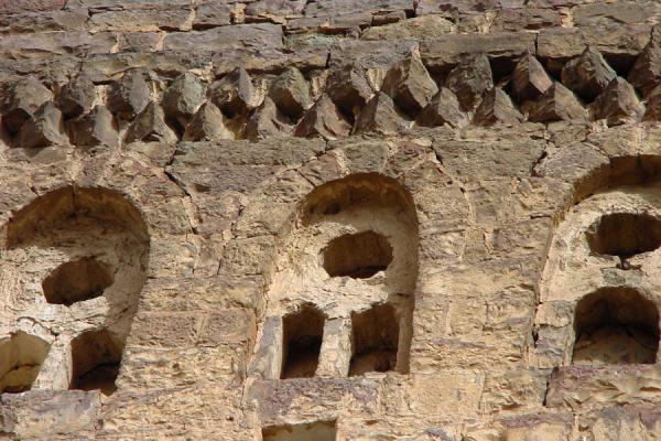 Picture of Jibla (Yemen): Detail of one of Jibla's stone tower houses
