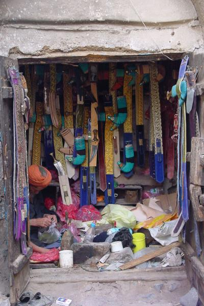 Picture of Jibla (Yemen): Jambiya shop in Jibla's suq