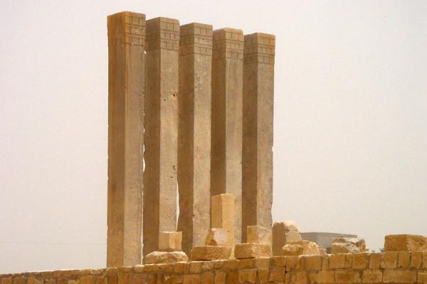 Remaining pillars of the temple of the moon | Marib | Yemen