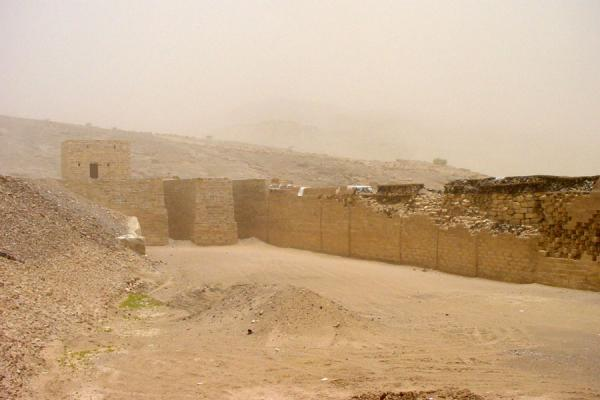 Picture of Marib (Yemen): Old Marib dam: only the sluices remain