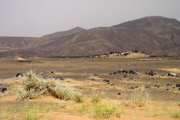 Volcanic desert landscape near Marib | Marib | Yemen