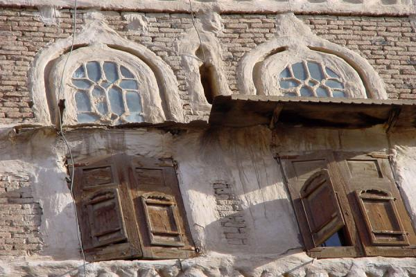 Picture of Old San'a (Yemen): Old San'a: detail of old house