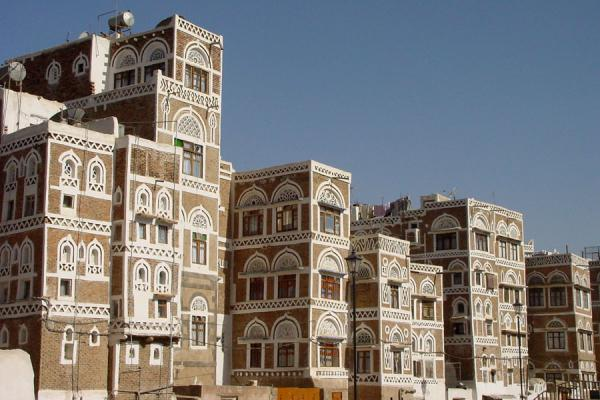Picture of Old San'a (Yemen): Typical houses of San'a near the Saila