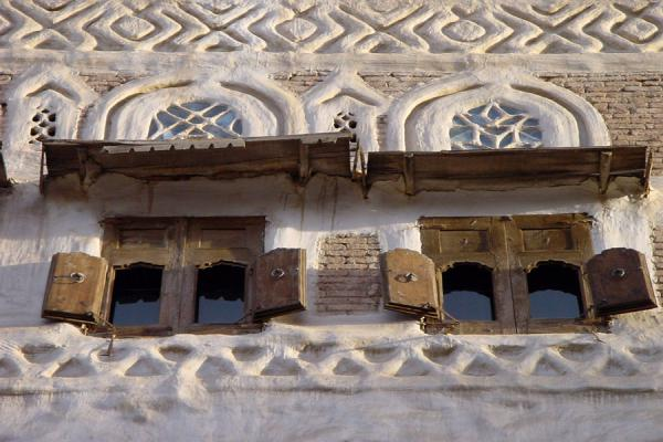 Picture of Old San'a (Yemen): Detail of house in Old San'a