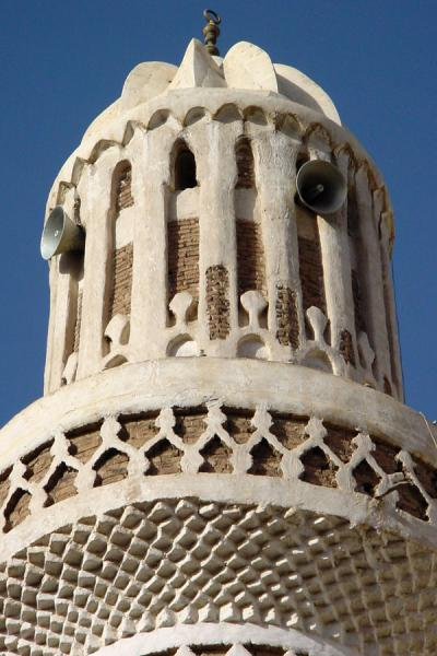 Picture of Old San'a (Yemen): Detail of minaret in Old San'a