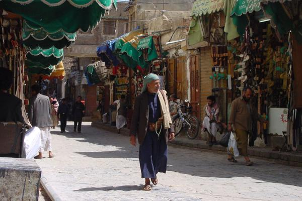 Picture of San'a suq (Yemen): Street in the suq of San'a