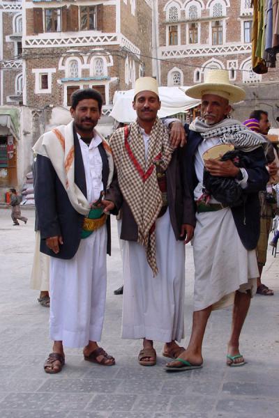 Picture of San'a suq (Yemen): Salesmen in San'a's suq