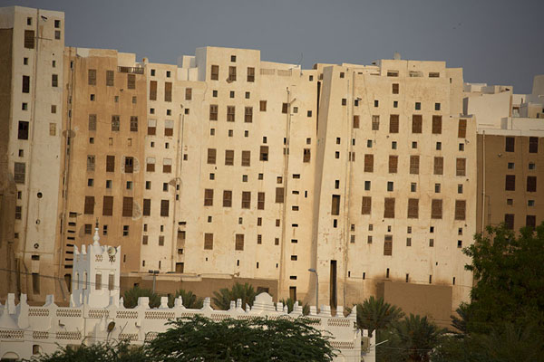There is a small area between the wall and the buildings | Shibam | Yemen