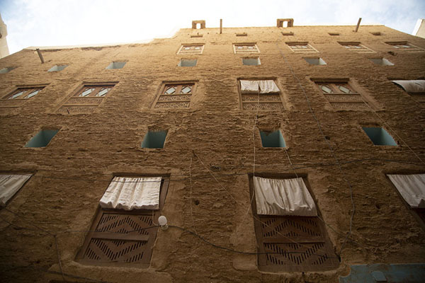 Picture of Painted clay building typical in Shibam