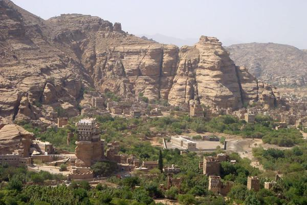 Picture of Wadi Dhahr (Yemen): Typical house in Wadi Dhahr