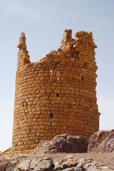 Picture of Wadi Dhahr (Yemen): One of the watch towers guarding Wadi Dhahr