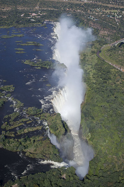 Picture of Victoria Falls seen from the sky - Zimbabwe