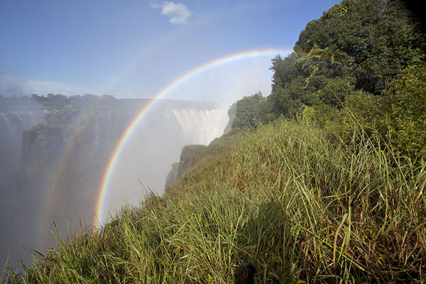 Foto van Double rainbow from viewpoint 4Victoria Falls - Zimbabwe