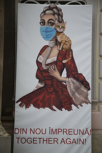 Art with mask in Romania