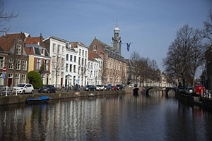 The Rapenburg with the Academiegebouw, the University of Leiden